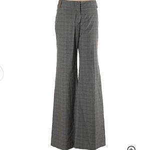 Anthropologie Elevenses Grey Plaid Dress Pants